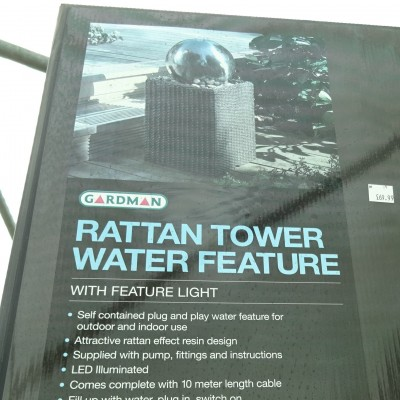 Rattan Tower Water Feature