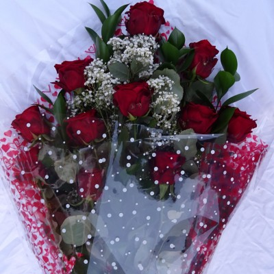 Gift Wrapped Bouquet - 12 Best Red Roses