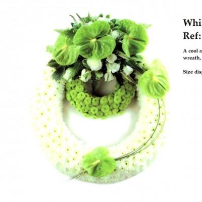 White and Lime Wreath Ref:FN24