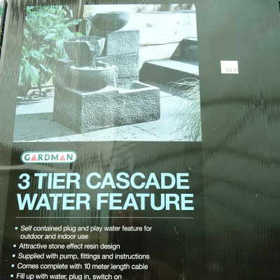 Three Tier Cascade Water Feature