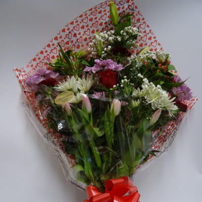 With Love Gift Wrapped Bouquet