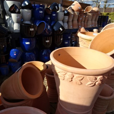 New range of pottery - many lines with 50% off original price.